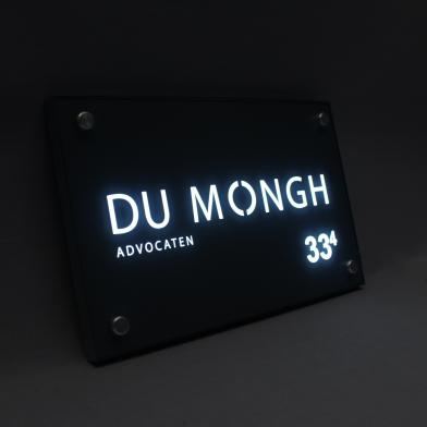Nameplates with LED