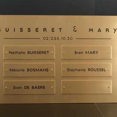 Modulair naambord Buisseret & Mary