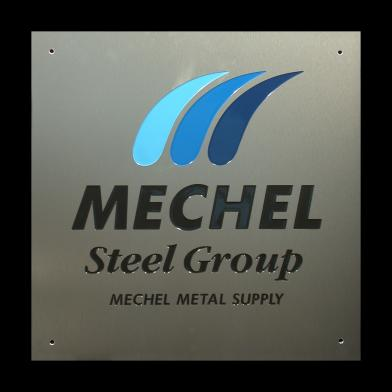 Aluminium naamplaat Mechel Steel Group